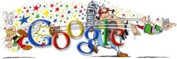 Google Anniversaire Astrix et Oblix photo