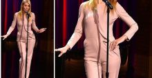 Gwyneth Paltrow, la combinaison rose endossée au Tonigh Show, un fashion faux pas